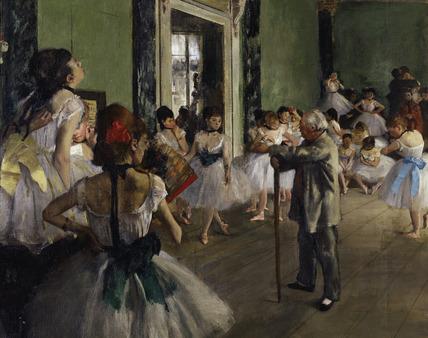E.Degas, La classe de danse /1873-76/ DETAIL