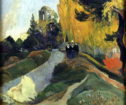P.Gauguin / Les Alyscamps / 1888 / DETAIL
