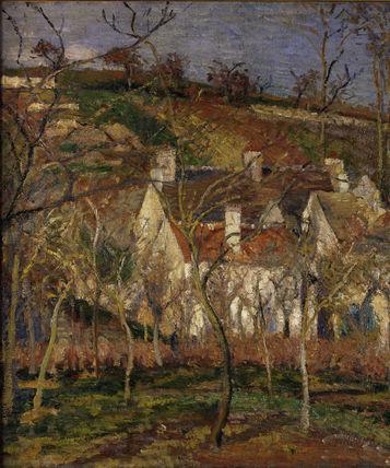 Pissarro/ Les toits rouges../ 1877 / DETAIL