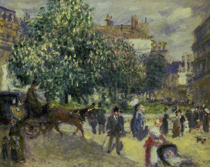 P.Renoir, Place de la Trinite, 1875.