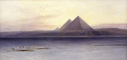 E.Lear, Pyramids of Gizeh