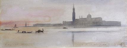 E.Lear, San Giorgio Maggiore, 1865.
