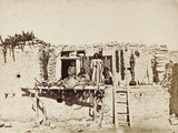 Hopi house and occupants