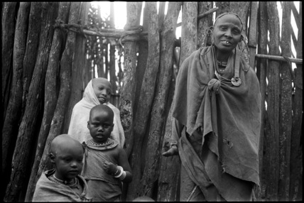 Maasai woman and children