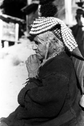 Kalash woman wearing a hat