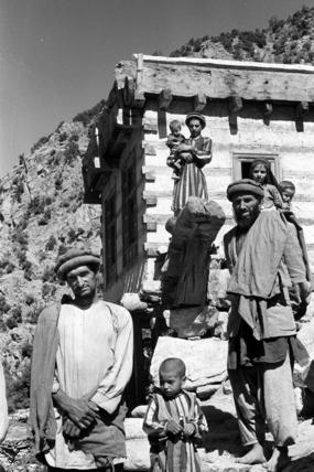 Nuristani men and boys at Shok