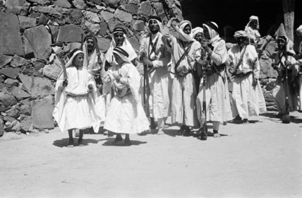 Arab boys at a circumcision ceremony