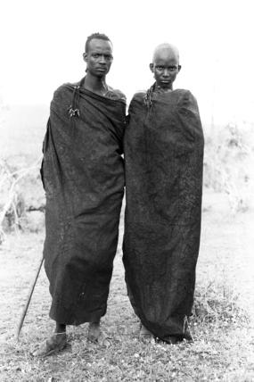 Portrait of two Samburu men