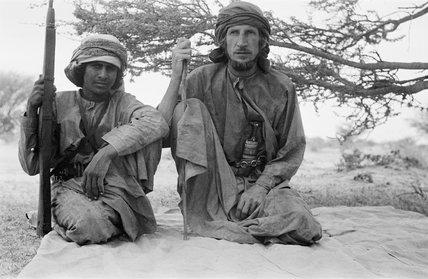 Thesiger with bin Ghabaisha