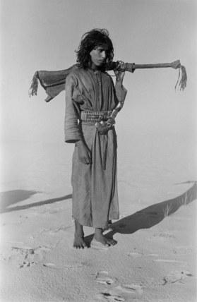 Salim bin Kabina with a rifle