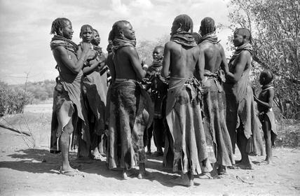Turkana women dancing