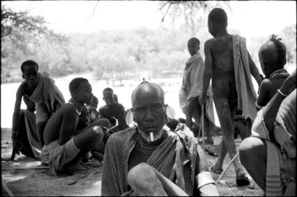 Turkana men resting