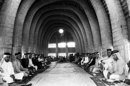 Interior of mudhif belonging to Haji Chuaid
