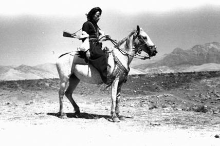 Pizdhar man on horseback