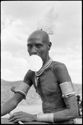 Turkana elder with nose ornament