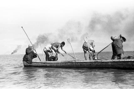 Berbera men fishing with nets