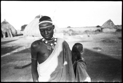 Shilluk man with neck ornaments