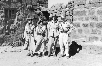 Thesiger with Druze soldiers