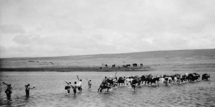 Crossing the Webi Shebeli river