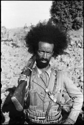 Abyssinian Patriot soldier with a rifle