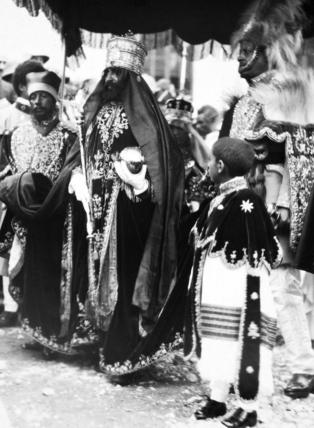 Emperor Haile Selassie with regalia