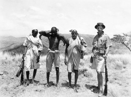 Wilfred Thesiger and hunting party
