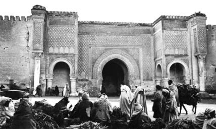 Bab Mansour gate at Meknes