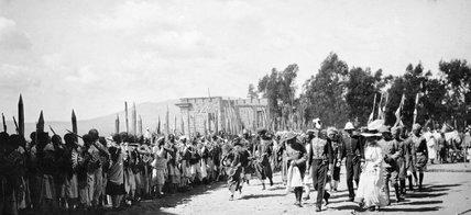 Consul-General arriving at Emperor Menelik's palace