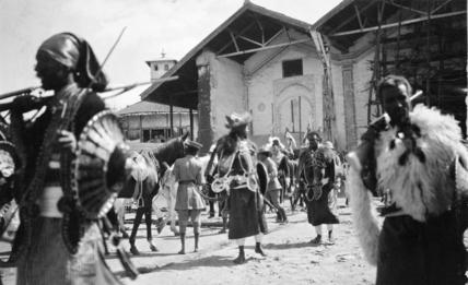 Warriors at Emperor Menelik's palace