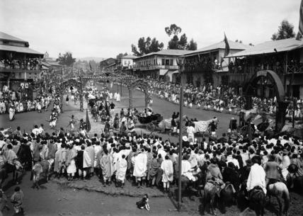 Coronation procession in Addis Ababa