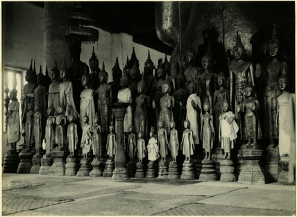 Statues in a temple