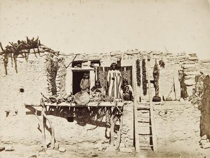 Hopi house and occupants