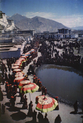 Ceremonial procession in Lhasa