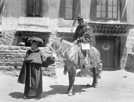 The Tsendron Kusho on horseback