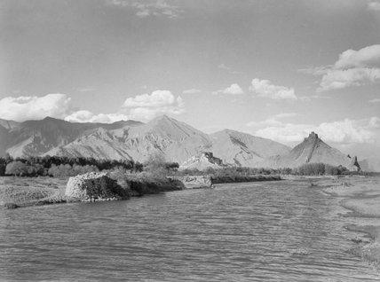 Potala and Chakpori from Kyichu River