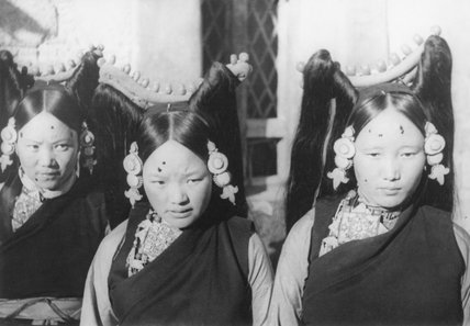Three Tibetan women at Dekyi Lingka party