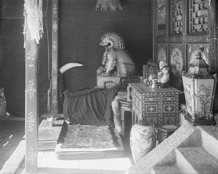 Verandah of Dalai Lama's pavilion in Norbu Lingka