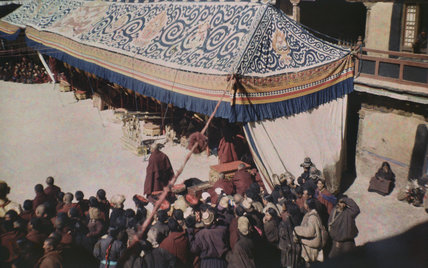 Canopy for musicians at cham dance