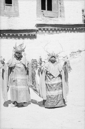 Cham dancers in Gyantse