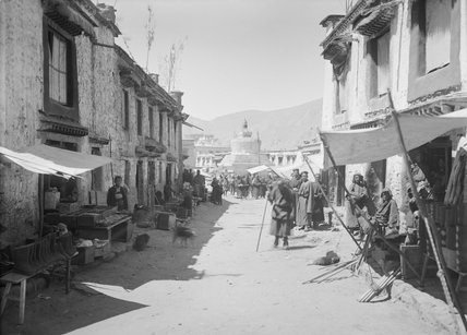Lhasa street along the Barkhor