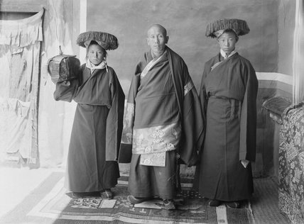 Tsendron Kusho and assistants