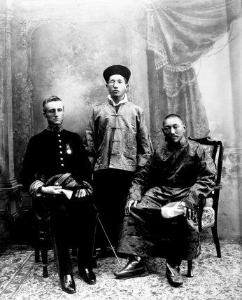 13th Dalai Lama, Sir Charles Bell and Maharaj Kumar Sidkeong Trul-ku