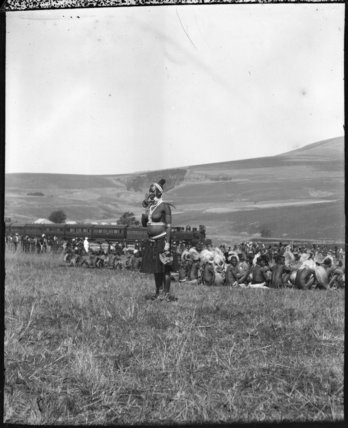 Woman at a Zulu wedding ceremony