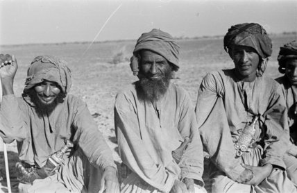 Seated group portrait of three ...