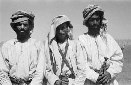Half-length group portrait of three ...
