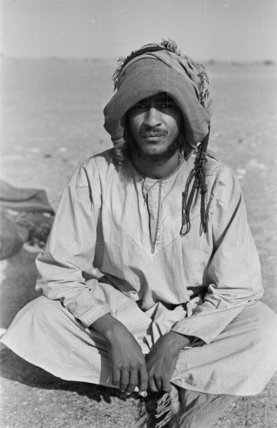 Portrait of a Bedouin man ...
