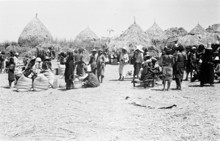Market at Al Haqu village. ...