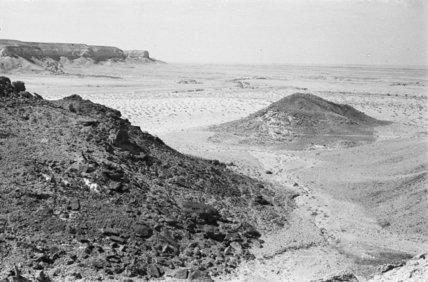 View glacial mounds, a rock ...