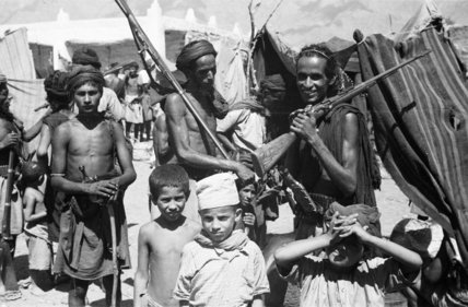 View of tribesmen at a ...