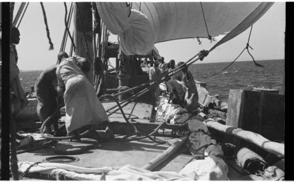View of sailors on the ...